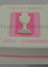 communie taart met kelk