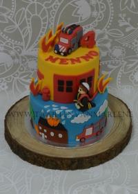 Brandweerman taart