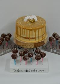 Dripped cake met cakepops