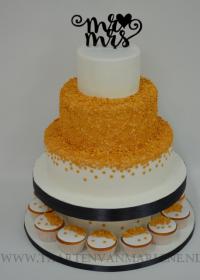 Goud sparkles met cupcakes