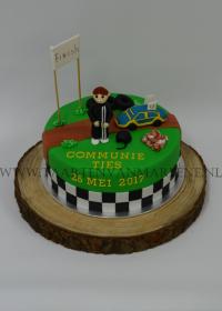 Communie taart Cars