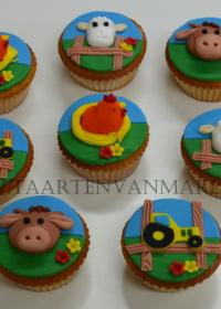 Boerderij cupcakes