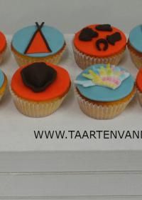 Indianen cupcakes