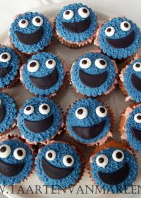 Kookie monster cupcakes