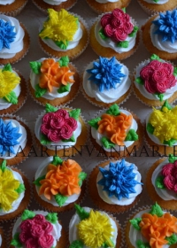 opgespoten cupcakes
