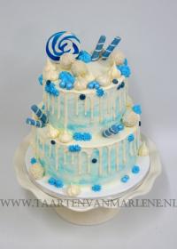 Blauwe drip met snoep