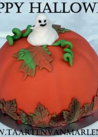 Halloween bol taart