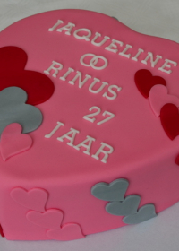 hartvormige taart