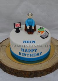 Verjaardag taart 65 jaar