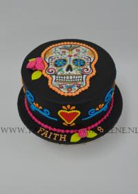 Mexican skull hood taart