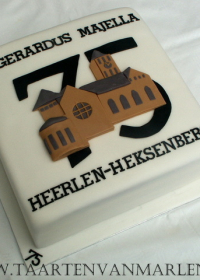 75 jarig jubileum taart