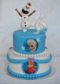 Frozen taart met Olaf