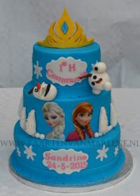 Frozen taart met kroon