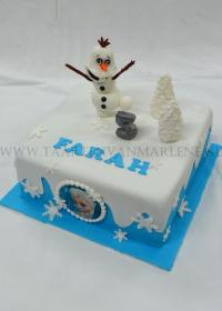 Frozen met Olaf taart