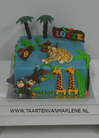 Jungle taart