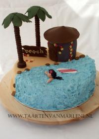 Hawaï eiland taart