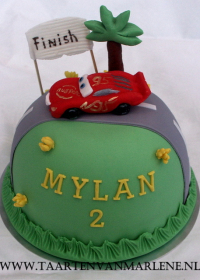 Cars bol taart