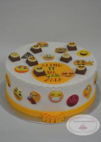Smiley taart