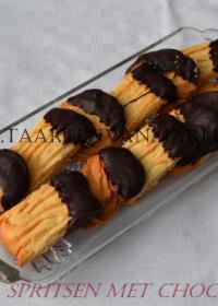 Sprits koekjes met chocolade