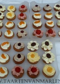 verschillende smaken cupcakes